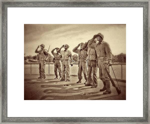 World War 2 Memorial Pierre Sd Framed Print