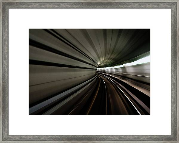 Worm Hole Framed Print