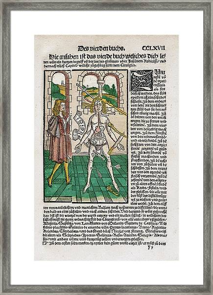Wound Man And Alchemy Framed Print