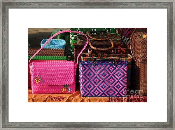 Woven Handbags For Sale Framed Print