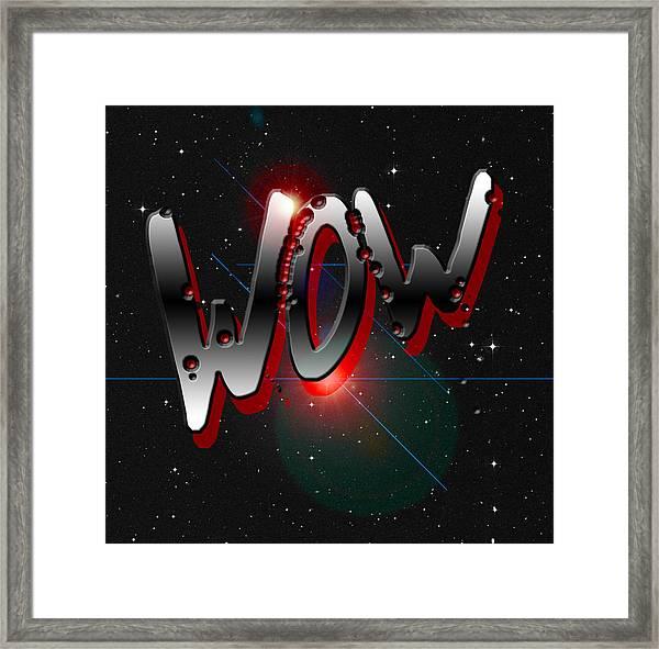 WOW Framed Print