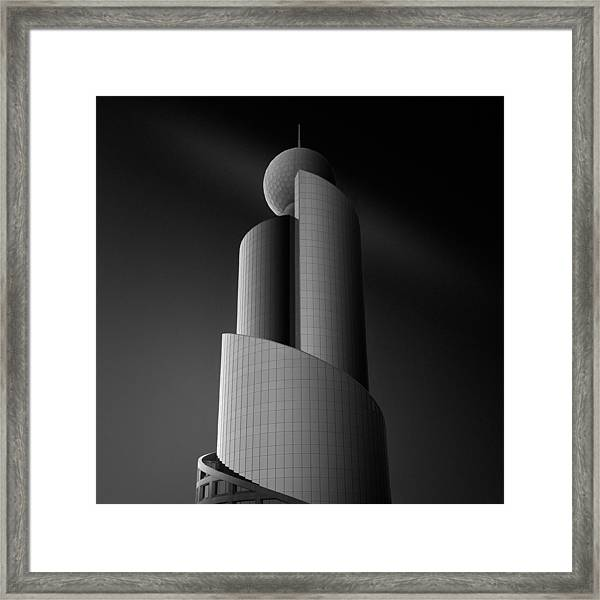 Wrapping Lights Around C Framed Print