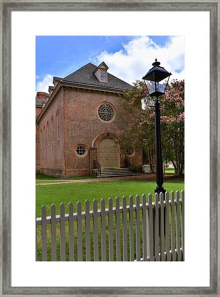 Wren Chapel At William And Mary Framed Print