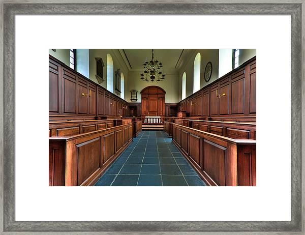 Wren Chapel Interior Framed Print