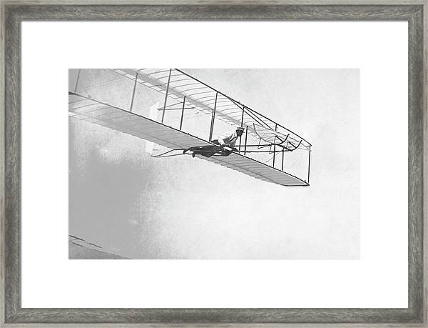 Wright Brothers' Glider Framed Print