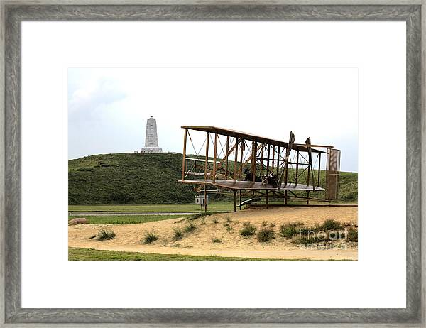 Wright Brothers Memorial At Kitty Hawk Framed Print