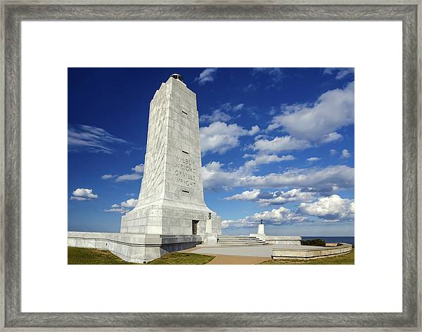 Wright Brothers Memorial D Framed Print