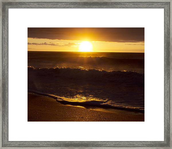 Wrightsville Beach Sunrise Framed Print