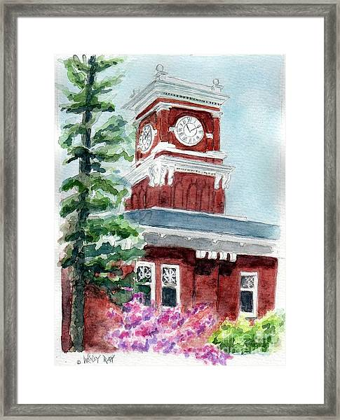 Wsu Clocktower Framed Print