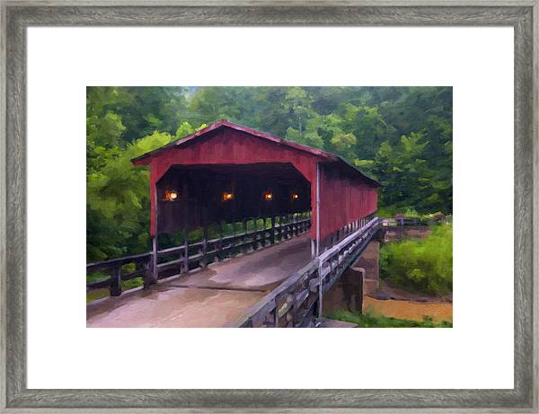Wv Covered Bridge Framed Print