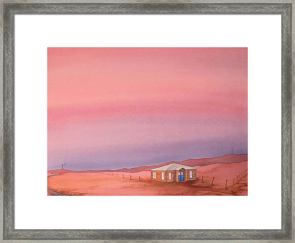 Framed Print featuring the painting Wyoming Homestead by Scott Kirby
