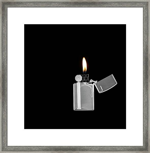 X-ray Image Of A Zippo Lighter Framed Print