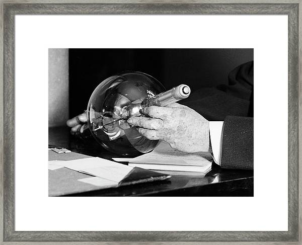 X-ray Injuries To Physician's Hand Framed Print