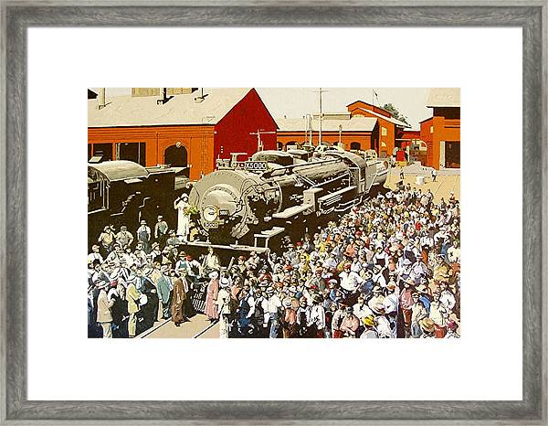X5000 At The Sacramento Locomotive Works Framed Print by Paul Guyer