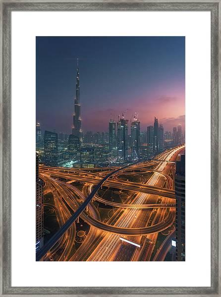 Xing Framed Print