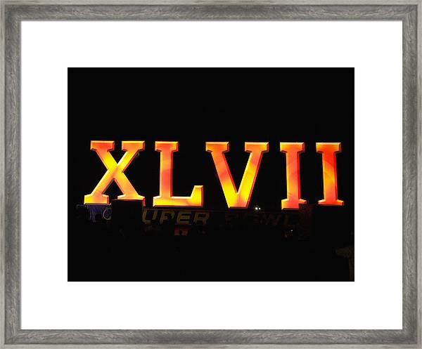 Xlvii Super Bowl Sign Framed Print