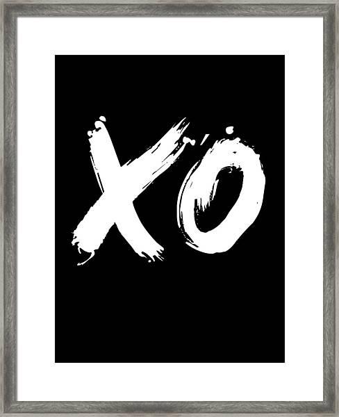 Xo Poster Black Framed Print