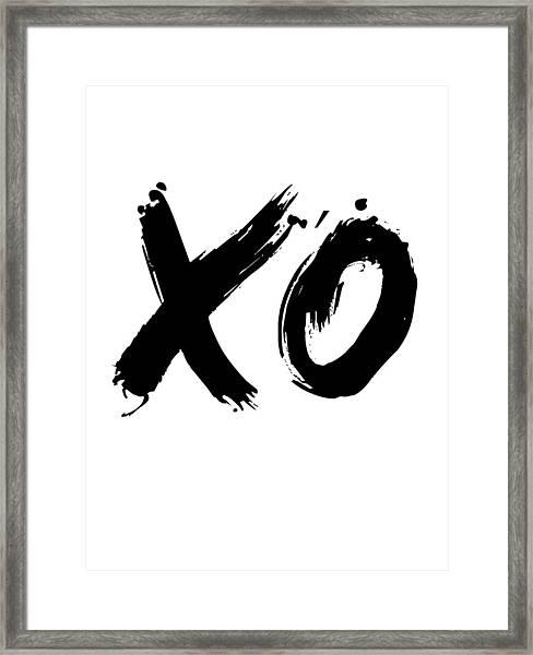 Xo Poster White Framed Print