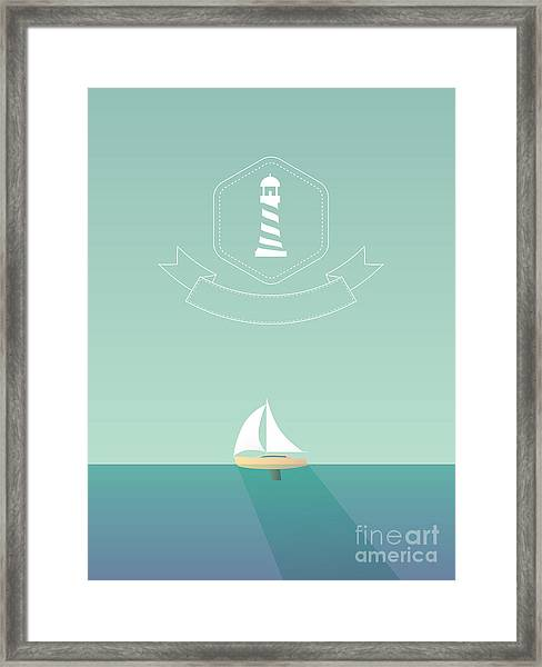 Yacht Sailing In The Sea. Traveling Framed Print