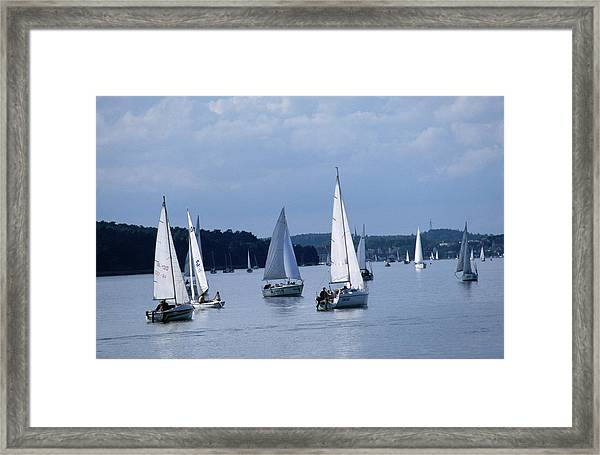 Yachting On The Great Masurian Lakes, A Framed Print