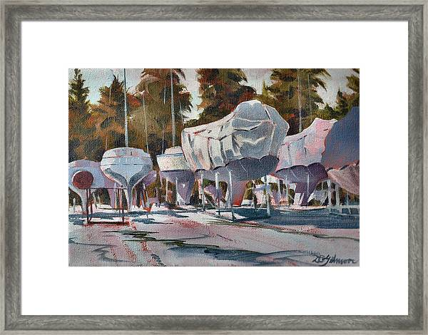 Yachts Winterizing Framed Print