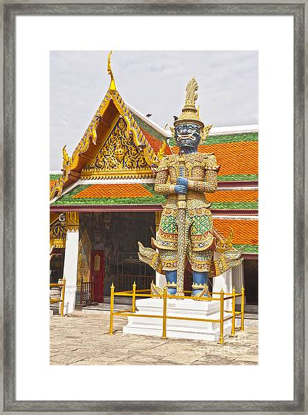 Yaksha Figure Wat Phra Kaew                   Framed Print by Colin and Linda McKie