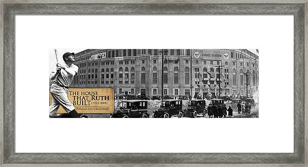 Yankee Stadium -house That Ruth Built Framed Print by Retro Images Archive