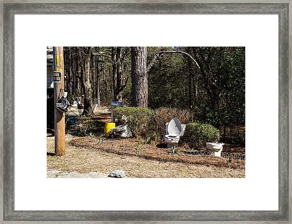 Yard Art Hwy 21 South Framed Print