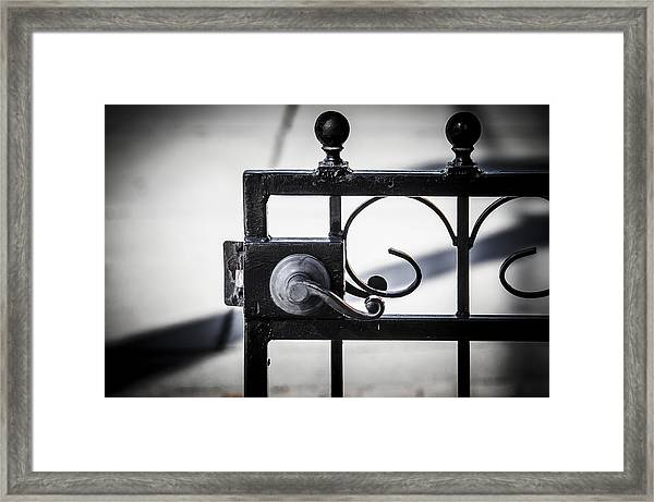 Ybor City Gate Framed Print