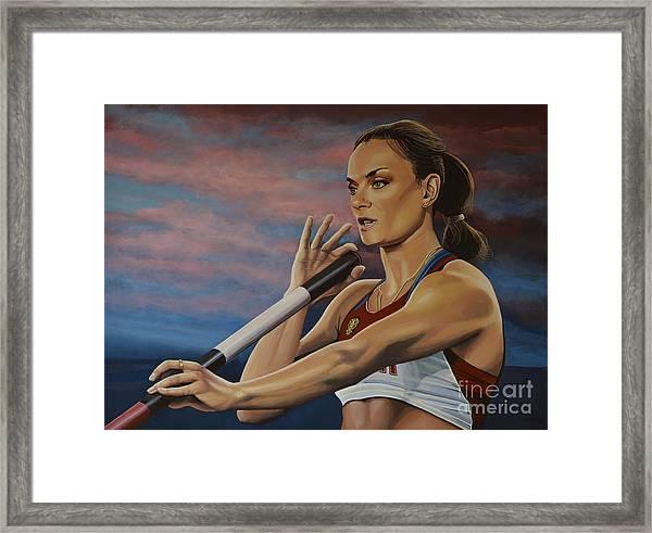 Yelena Isinbayeva   Framed Print
