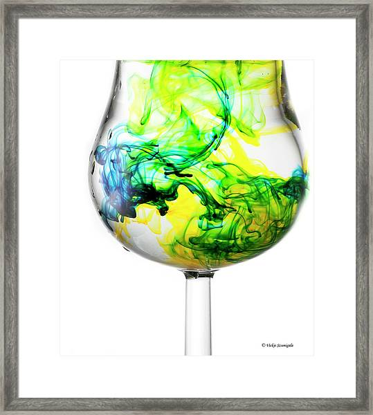 Yellow And Blue Make Green Framed Print