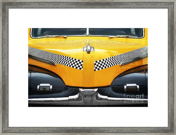 Yellow Cab - 1 Framed Print by Nikolyn McDonald