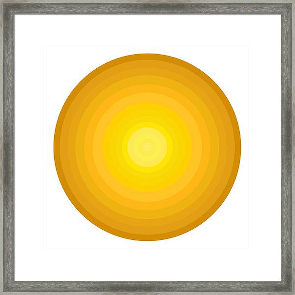 Yellow Circles Framed Print