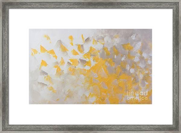 Yellow Cloud Framed Print