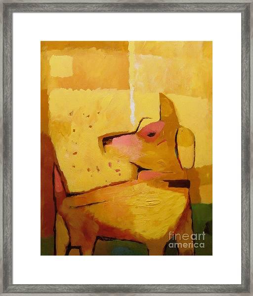 Yellow Dog Framed Print