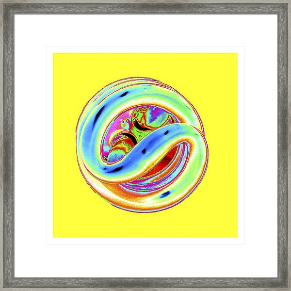 Yellow Fluorescent Framed Print