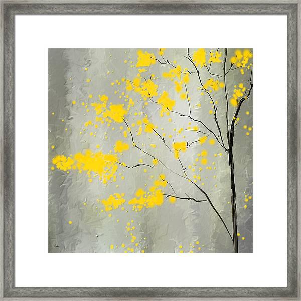Yellow Foliage Impressionist Framed Print