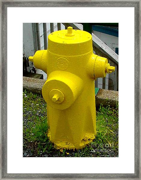 Yellow Hydrant Framed Print