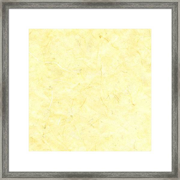 Yellow Marble Background Framed Print by Jeff Venier