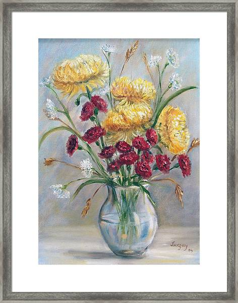 Yellow Mums Framed Print