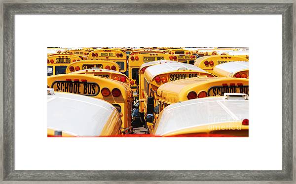 Yellow School Bus Framed Print
