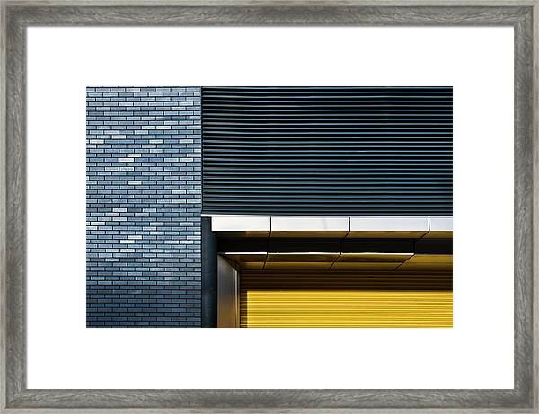 Yellow Shutter Framed Print