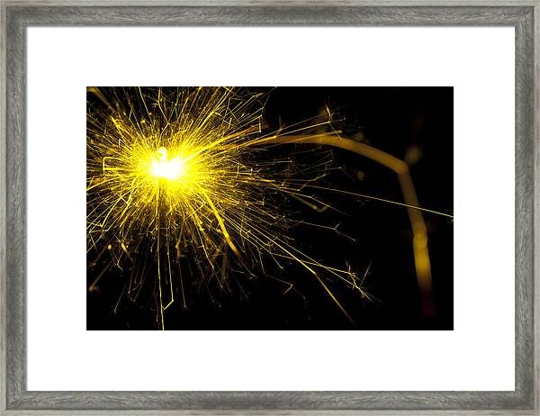 Yellow Sparkle Framed Print