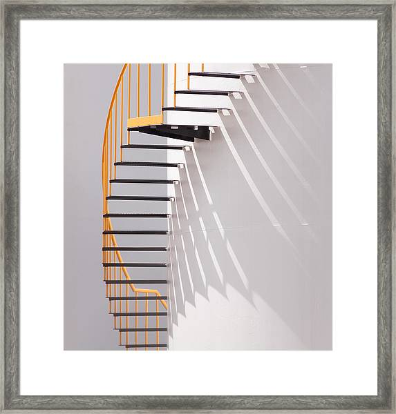 Yellow Staircase Framed Print