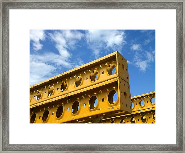 Yellow Steel Four Framed Print