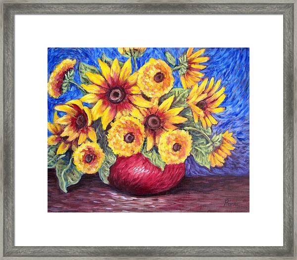 Yellow Sunflowers Framed Print