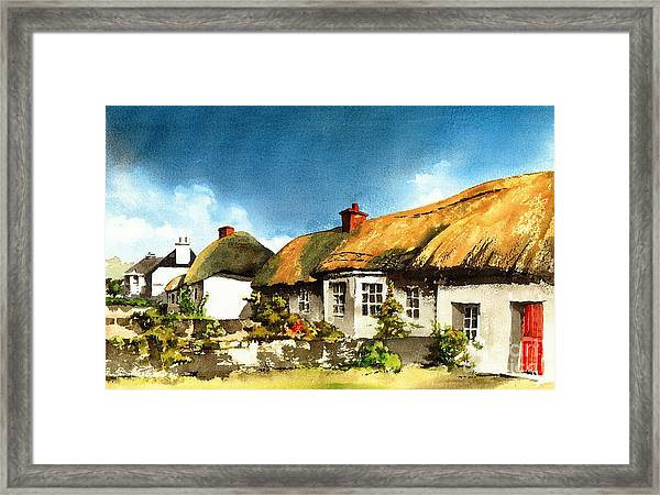 Yellow Thatch In Adare  Limerick Framed Print