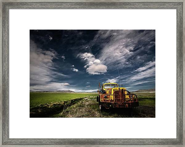 Yellow Truck Framed Print