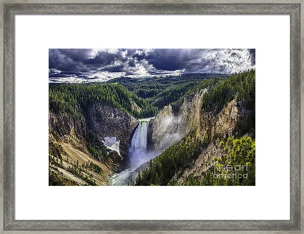 Yellowstone Canyon Lower Falls Framed Print