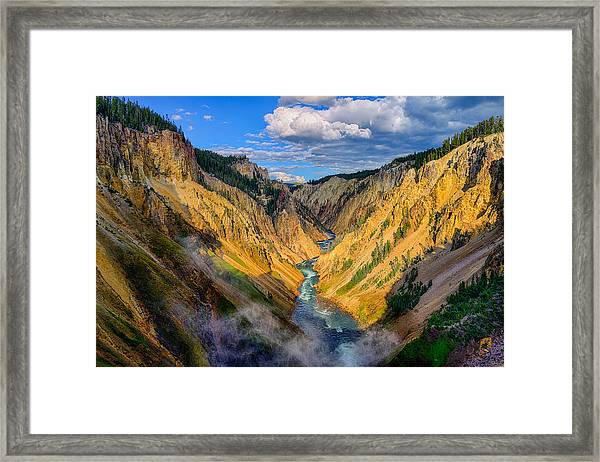 Yellowstone Canyon View Framed Print